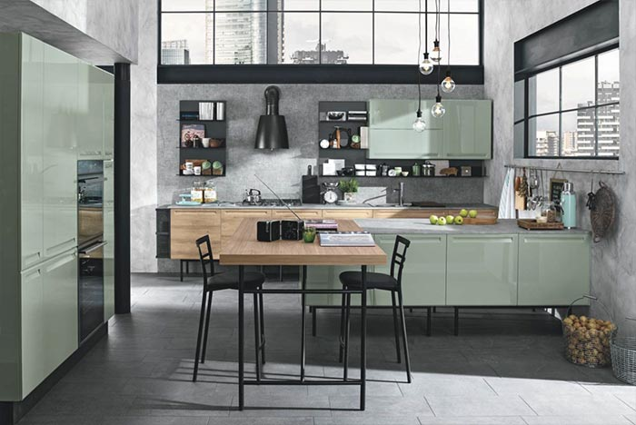 Cucina isla colombini artec stile industriale moderno - Cucine colombini ...