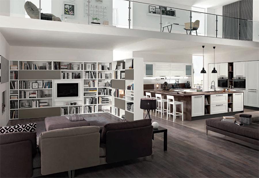 arredamento open space cucina soggiorno