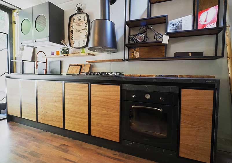 cucina industrial chic moderna