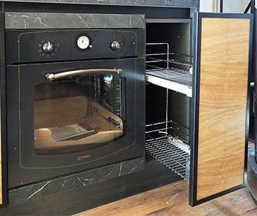 cucina legno acciao